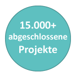 15,000+ Projects Completed